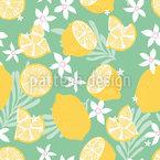 Selva de limão Design de padrão vetorial sem costura