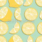Festa de limão Design de padrão vetorial sem costura