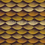 様式化されたヤシの葉 シームレスなベクトルパターン設計