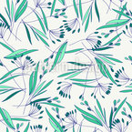 Grass And Leaves Seamless Vector Pattern Design