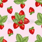 Arrangement Aus Erdbeeren Nahtloses Vektormuster