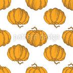 Vintage Pumpkins Seamless Vector Pattern Design