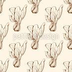 Alface Vintage Design de padrão vetorial sem costura