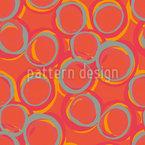 Arranjo do círculo irregular Design de padrão vetorial sem costura
