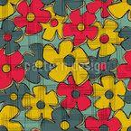 Abstract Fantasy Blossom Seamless Vector Pattern Design