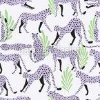 Geparden-Bewegung Nahtloses Vektormuster