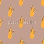 Ananas-Silhouette Nahtloses Vektormuster