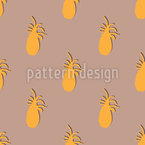 Pineapple Silhouette Seamless Vector Pattern Design