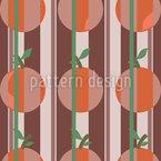 Orangen Und Streifen Nahtloses Vektormuster