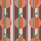Oranges And Stripes Seamless Vector Pattern Design