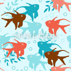 Dance Of The Fish Seamless Vector Pattern Design