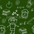 School Mix Seamless Vector Pattern Design