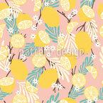 Süße Zitronen Nahtloses Vektormuster