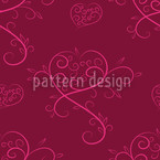 Love Actually Red Seamless Vector Pattern Design