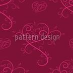 Tatsächlich Liebe Rot Rapportiertes Design