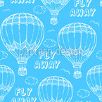 Hot Air Balloons In The Sky Seamless Vector Pattern Design