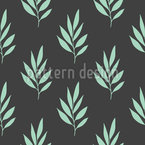 Stylized Leaf Seamless Vector Pattern Design
