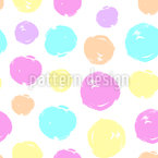 Abstract Brush Circles Seamless Vector Pattern Design