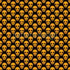 Treffen Der Totenchädel Nahtloses Vektormuster