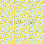 Lápis em abundância Design de padrão vetorial sem costura