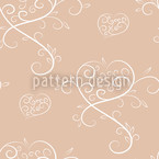 Love Actually Rose Seamless Vector Pattern Design