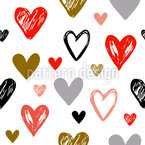 Modern Hearts Seamless Vector Pattern Design