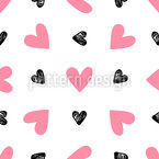 Romantic Valentines Day Seamless Vector Pattern Design