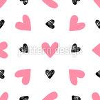 Romantischer Valentinstag Nahtloses Muster