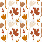 Abstract Flower Shapes Seamless Vector Pattern Design