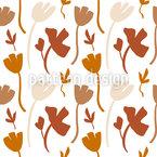 Abstrakte Blumen-Formen Nahtloses Vektormuster