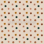 Stylized Small Flowers Seamless Vector Pattern Design