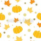 Herbstblätter Und Kürbisse Nahtloses Vektormuster