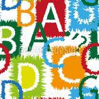 Letras Abstratas Design de padrão vetorial sem costura