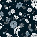 Blumenregen In Blau Muster Design