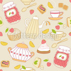 Sweets And Tea Seamless Vector Pattern Design
