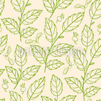 Fresh Spring Leaf Seamless Vector Pattern Design