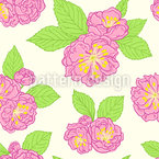 Peach Blossoms Seamless Vector Pattern Design