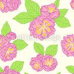 Pfirsichblüten Nahtloses Vektormuster