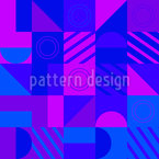 Composição geométrica a frio Design de padrão vetorial sem costura
