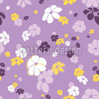 Blumenregen In Flieder Nahtloses Vektormuster