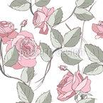 Dickicht Aus Rosen Nahtloses Vektormuster