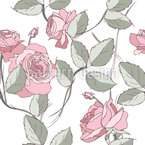 Thicket Of Roses Seamless Vector Pattern Design