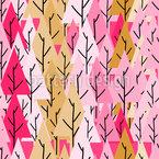 Cute Cartoon Pine Seamless Vector Pattern Design