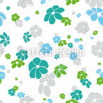 White Flower Rain Vector Ornament
