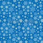 Schneeflocken Einfachheit Nahtloses Vektormuster