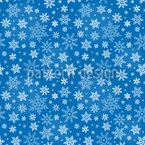 Snowflakes Simplicity Seamless Vector Pattern Design