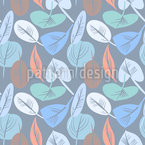 Decorative Leaves Dream Seamless Vector Pattern Design