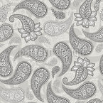 Paisley neutra Estampado Vectorial Sin Costura