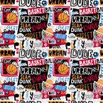 Basketball Urban Nahtloses Vektormuster