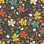 Floral Phase Seamless Vector Pattern Design